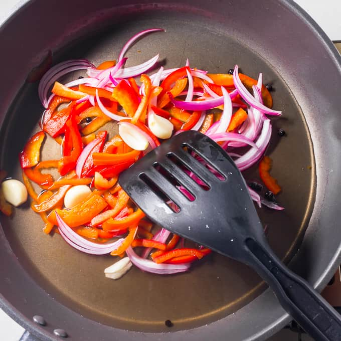 Escabeche onion and red bell pepper