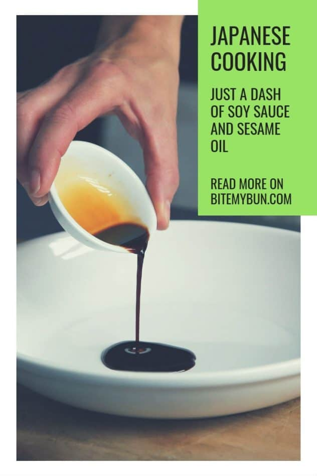a dash of soy sauce and sesame oil