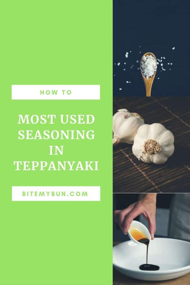 Most used seasoning in teppanyaki