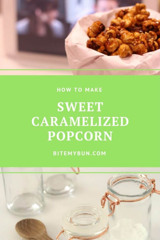How to make sweet caramelized popcorn