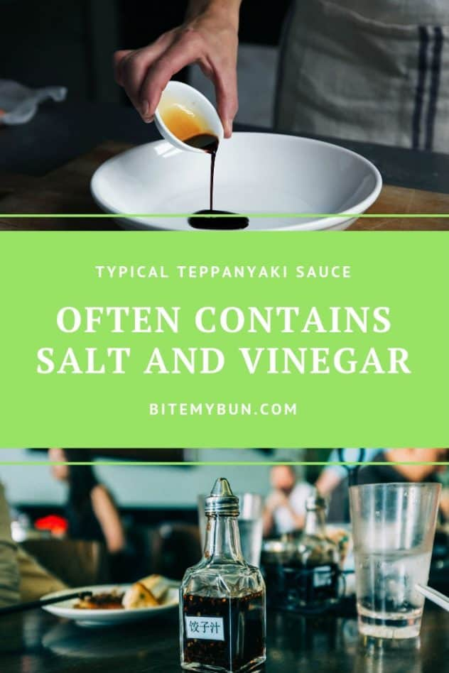 TYpical Teppanyaki sauce with salt and vinegar