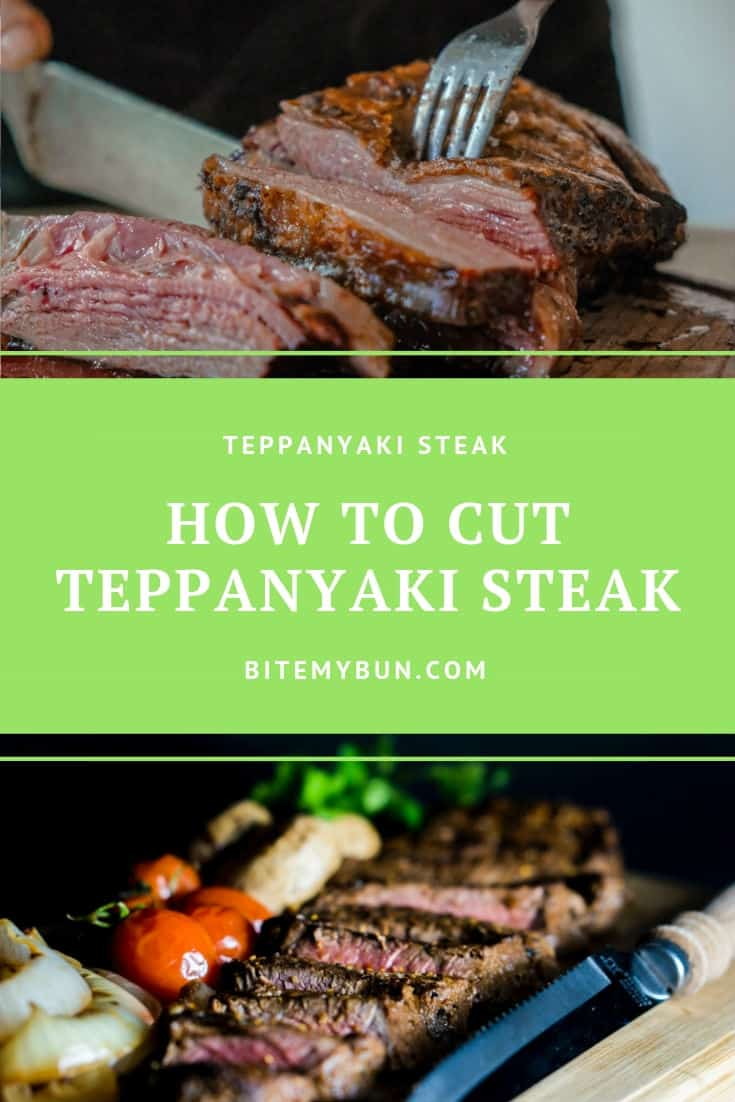 How to cut teppanyaki steak