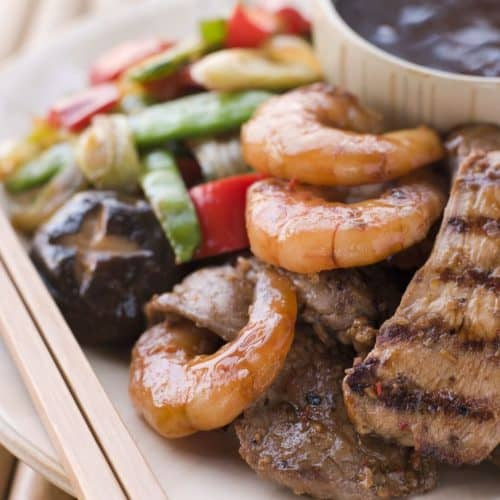 Teppanyaki steak and shrimp recipe
