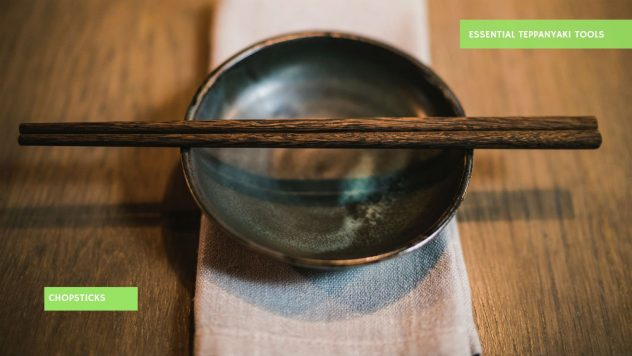 Chopsticks on a ceramic bowl
