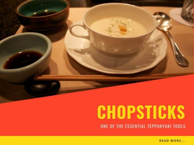 Chopsticks - one of the essential Teppanyaki tools