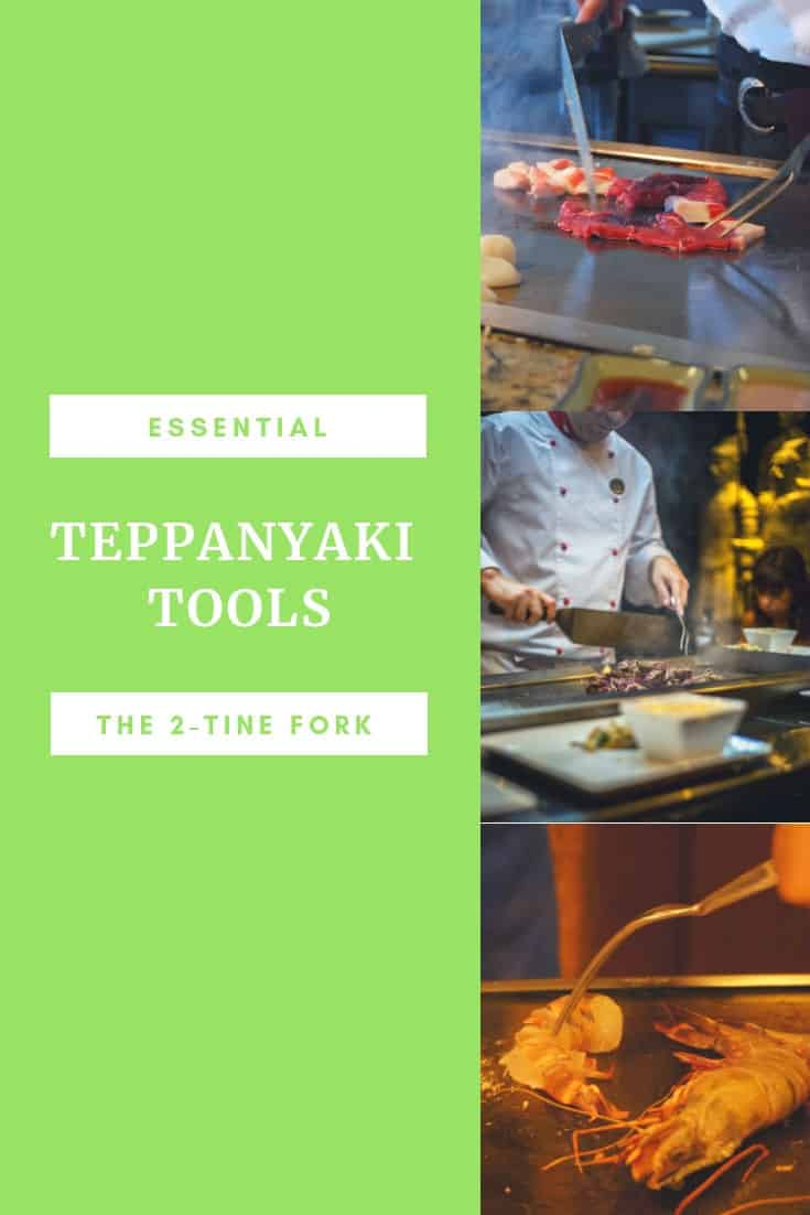 Essential teppanyaki tools - the 2-tine fork