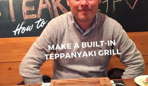 How to make a built-in teppanyaki grill
