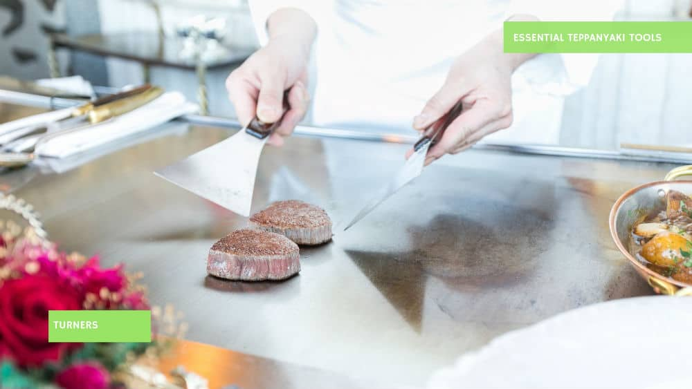 Use these turners for cooking Teppanyaki recipes