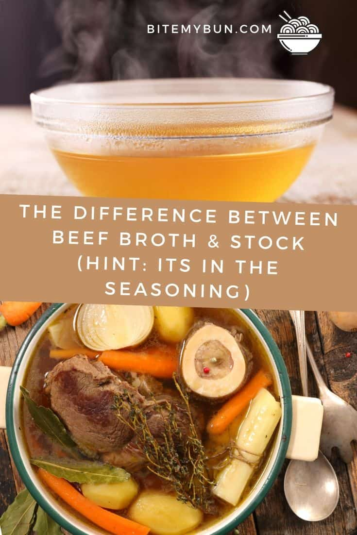 Difference between beef broth and beef stock