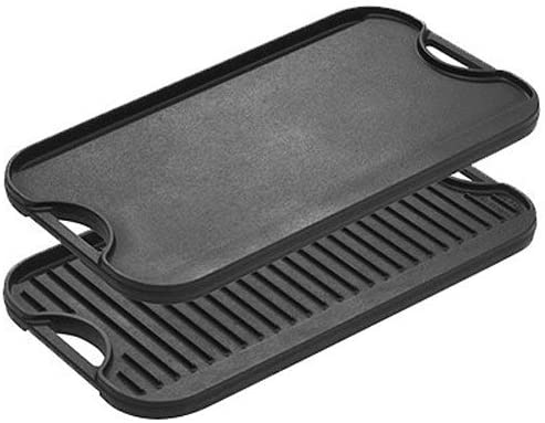 Lodge Cast Iron Reversible Griddle Pan with Non-Stick Coating