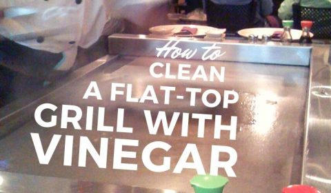 How to clean a flat-top grill with vinegar