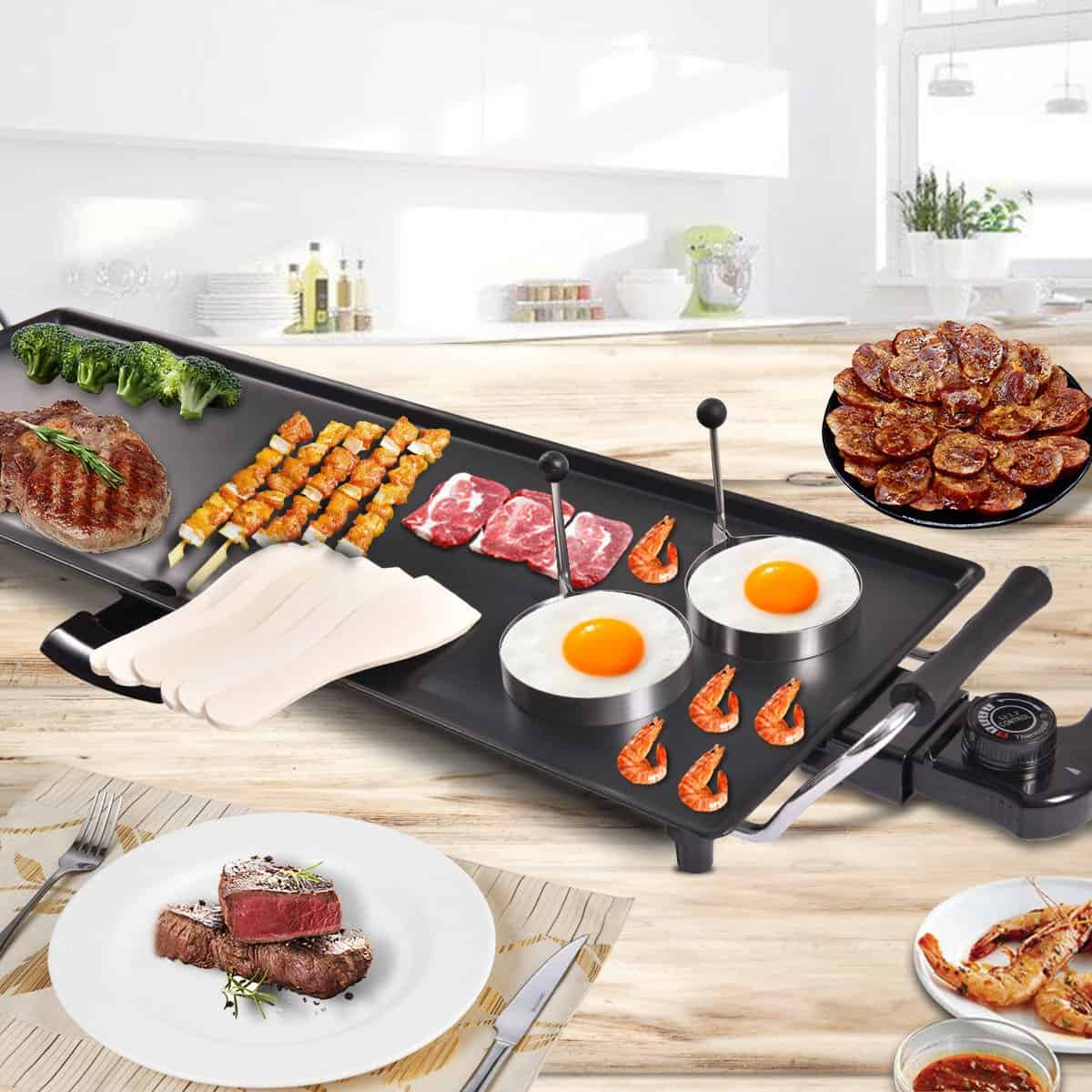 CHEFJOY -Electric Teppanyaki Table Top Grill