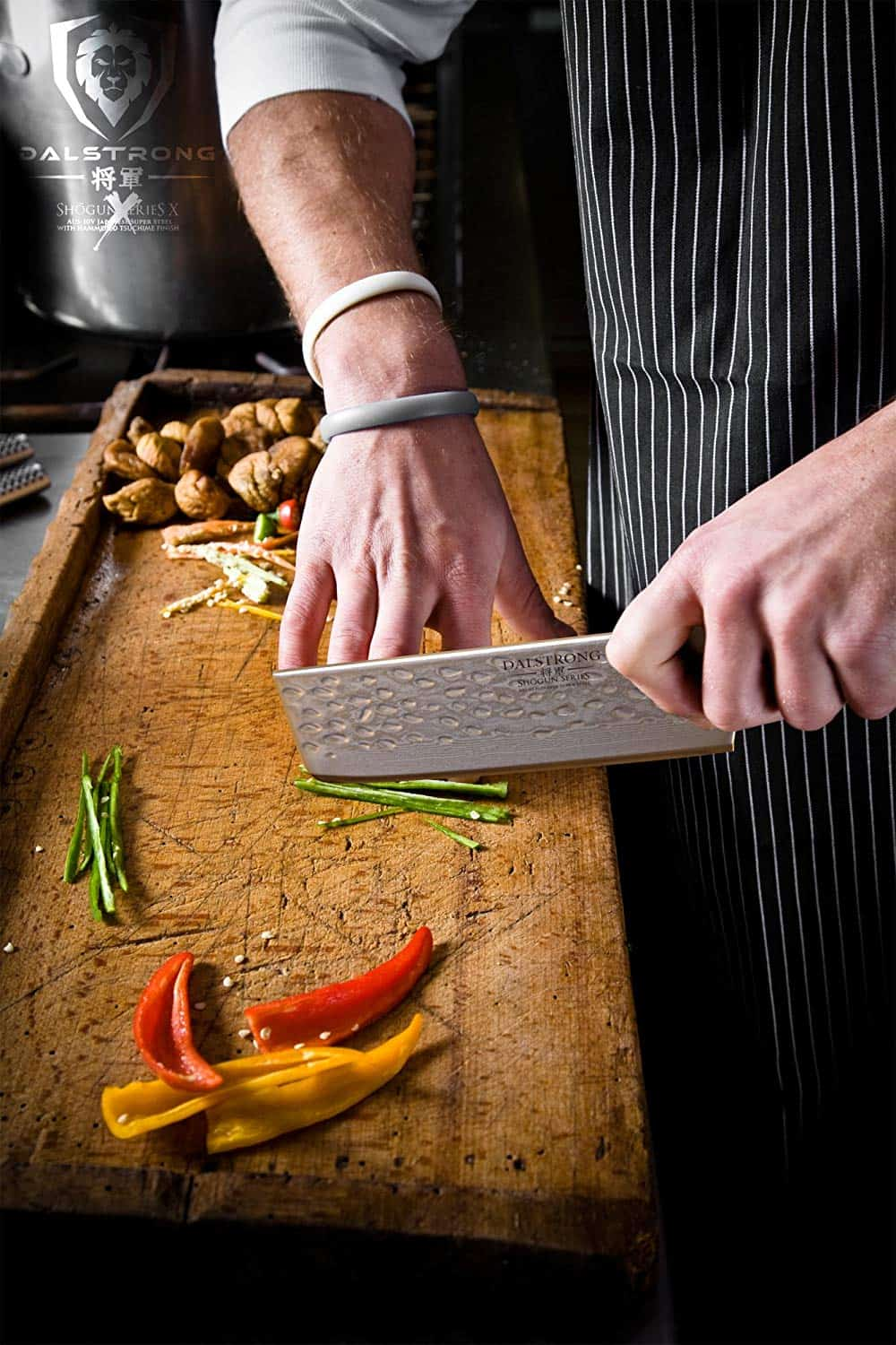 Hammered hibachi vegetable knife