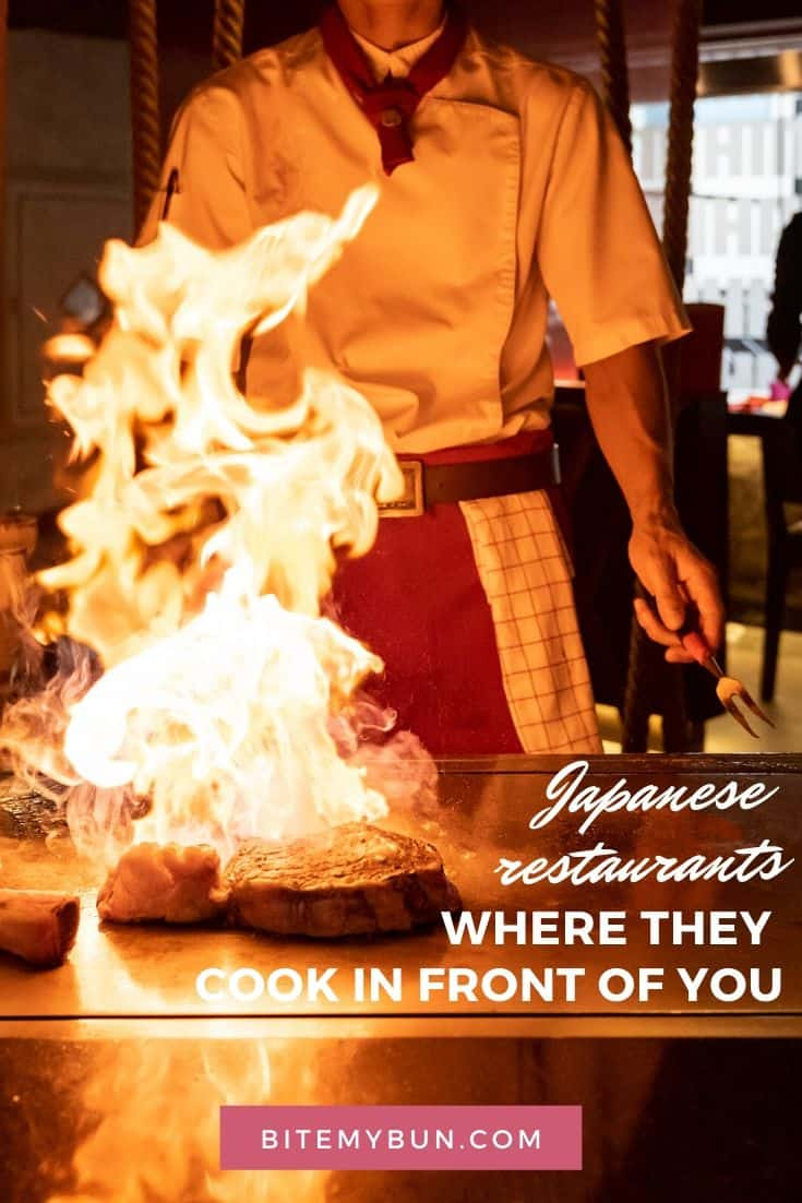 Japanese cooking style restaurants where they cook in front of you