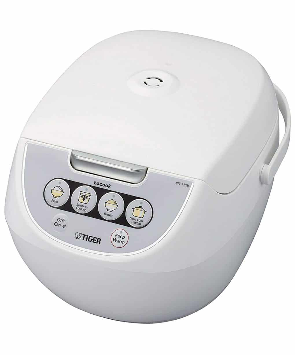 Tiger rice cooker with steamer