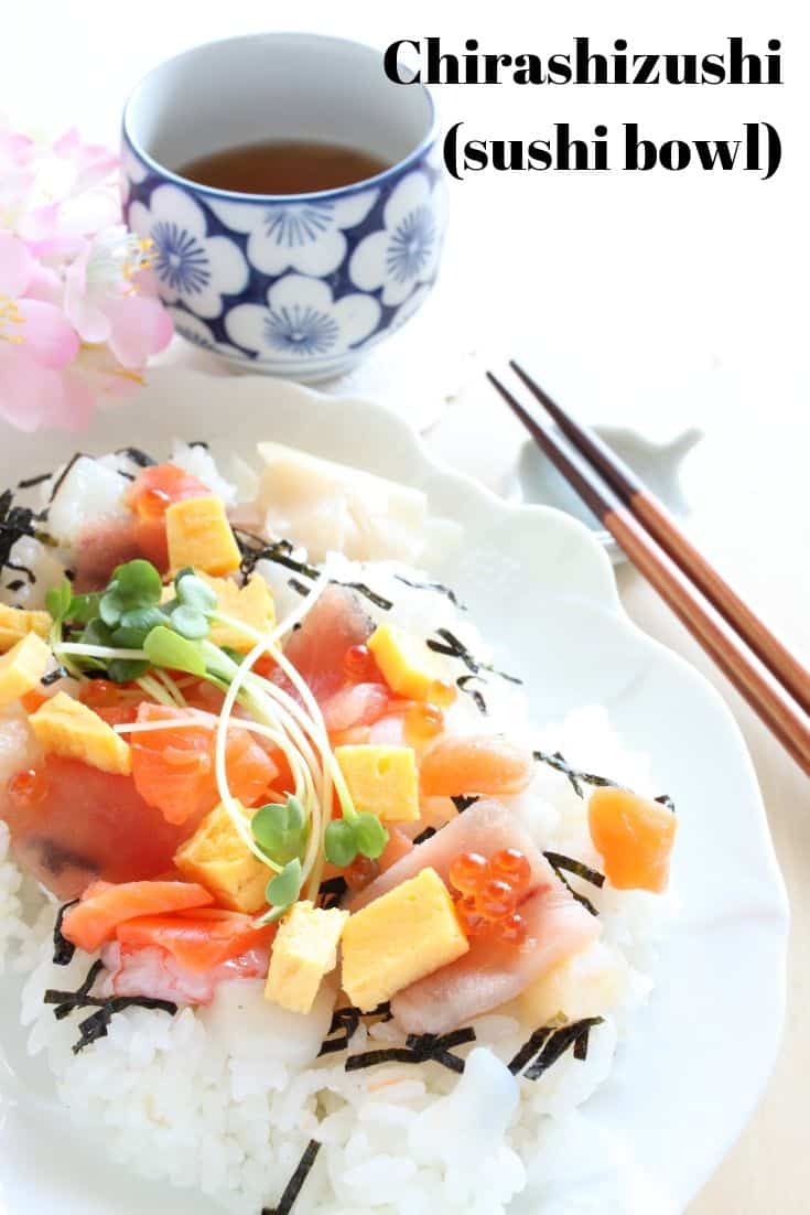 Chirashizushi or sushi bowl