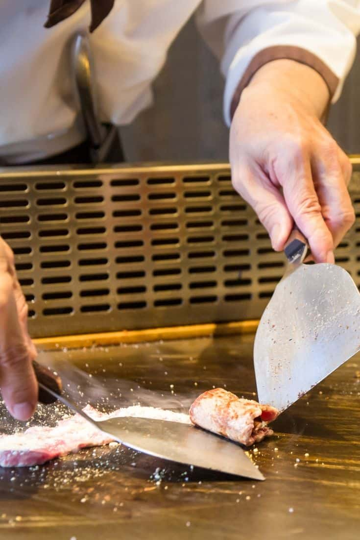Usually the Teppanyaki chef will prepare one dish at a time