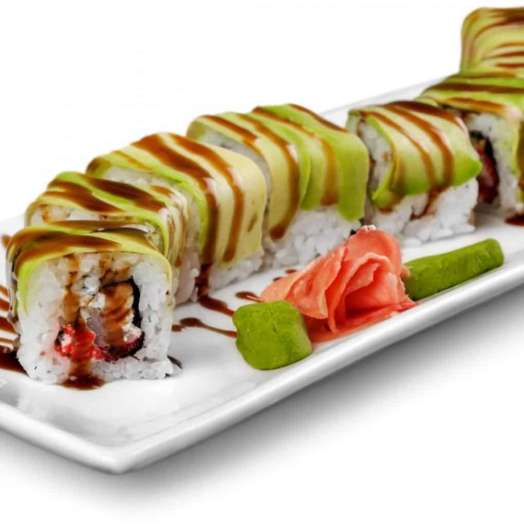 Calories in the caterpillar sushi roll