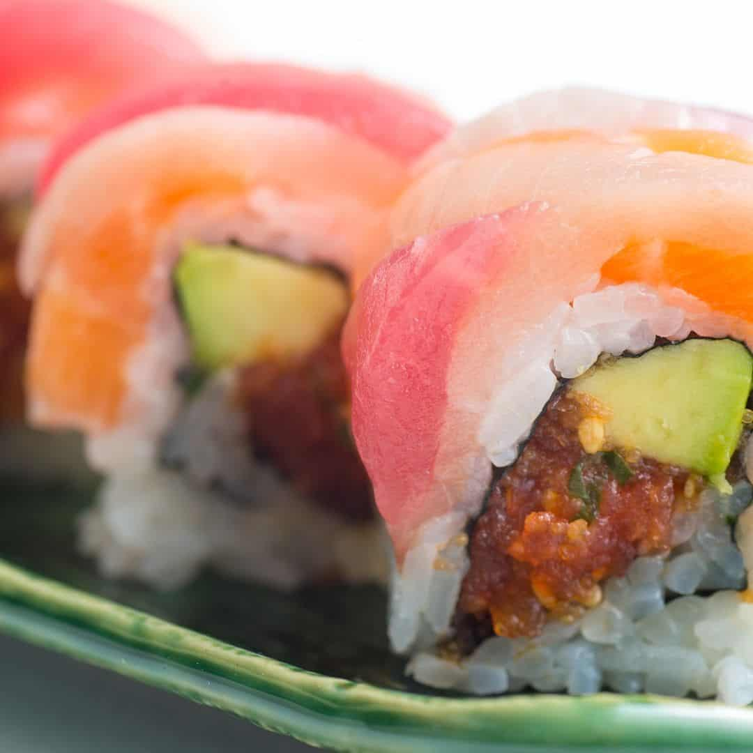 Calories in the rainbow sushi roll