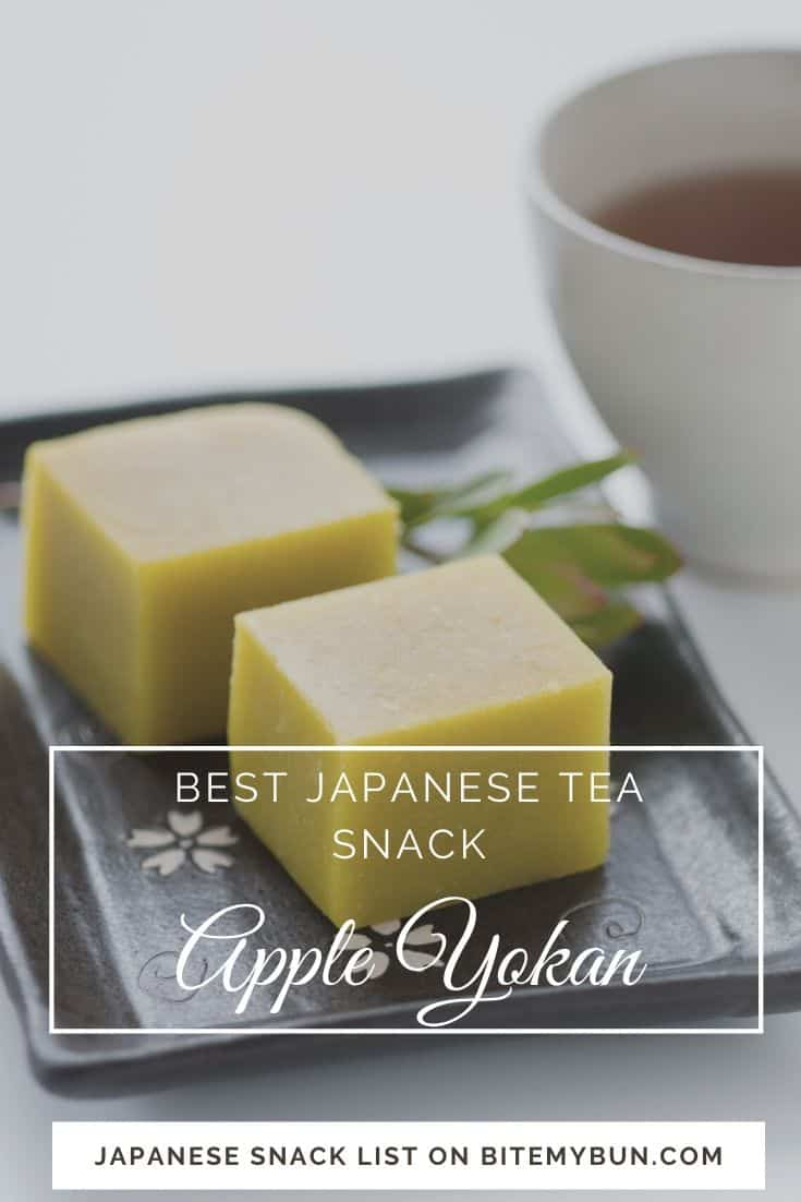 Apple yokan japanese tea snack