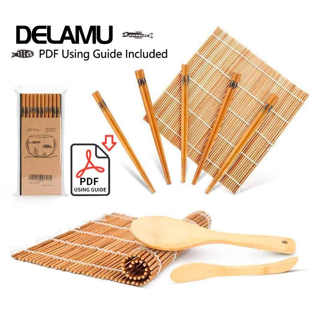 Best bamboo sushi making kit Delamu