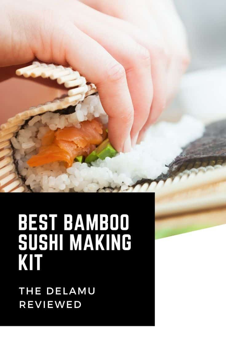 Best bamboo sushi making kit from Delamu