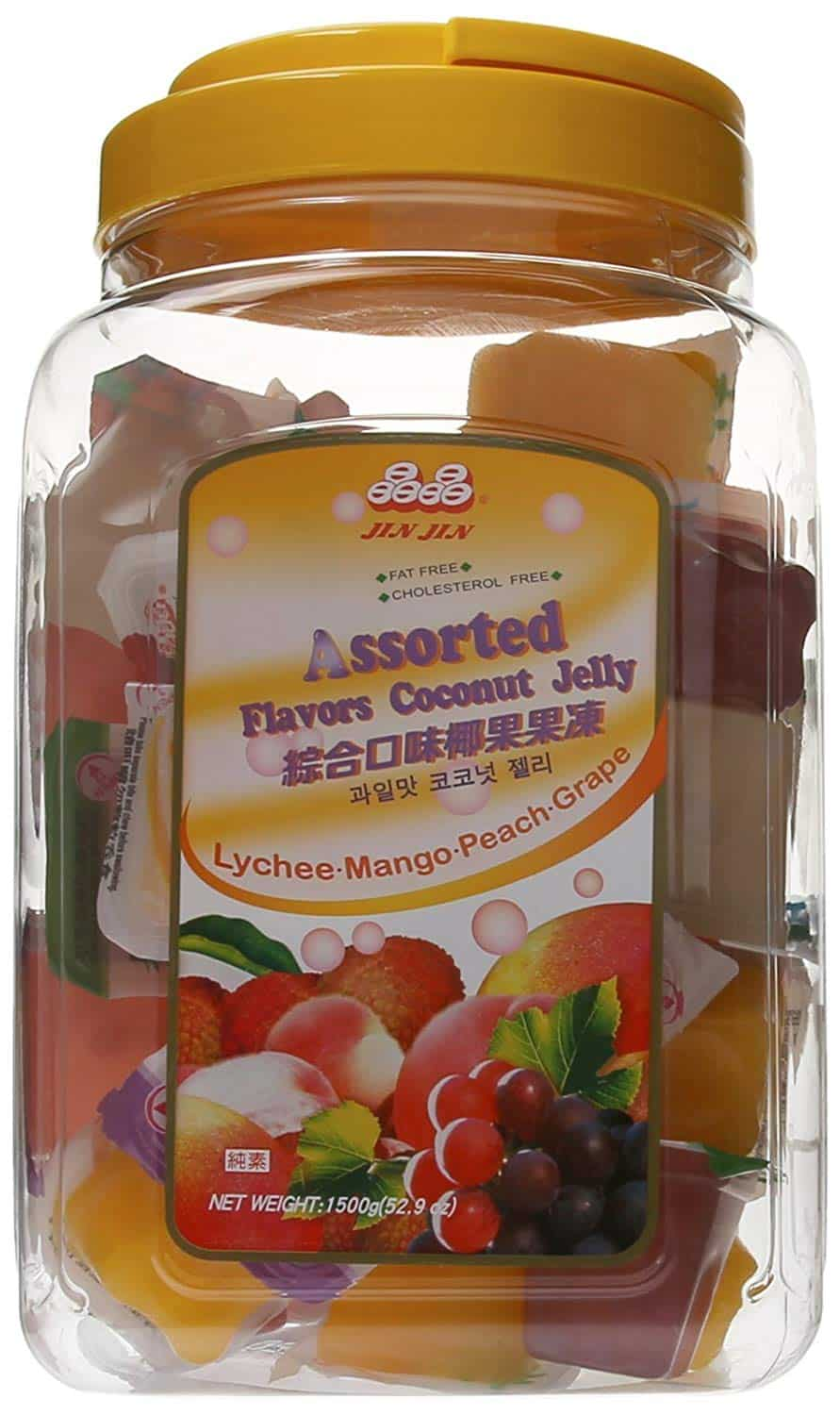 Best japanese candy snack jin jin assorted coconut fruit candy