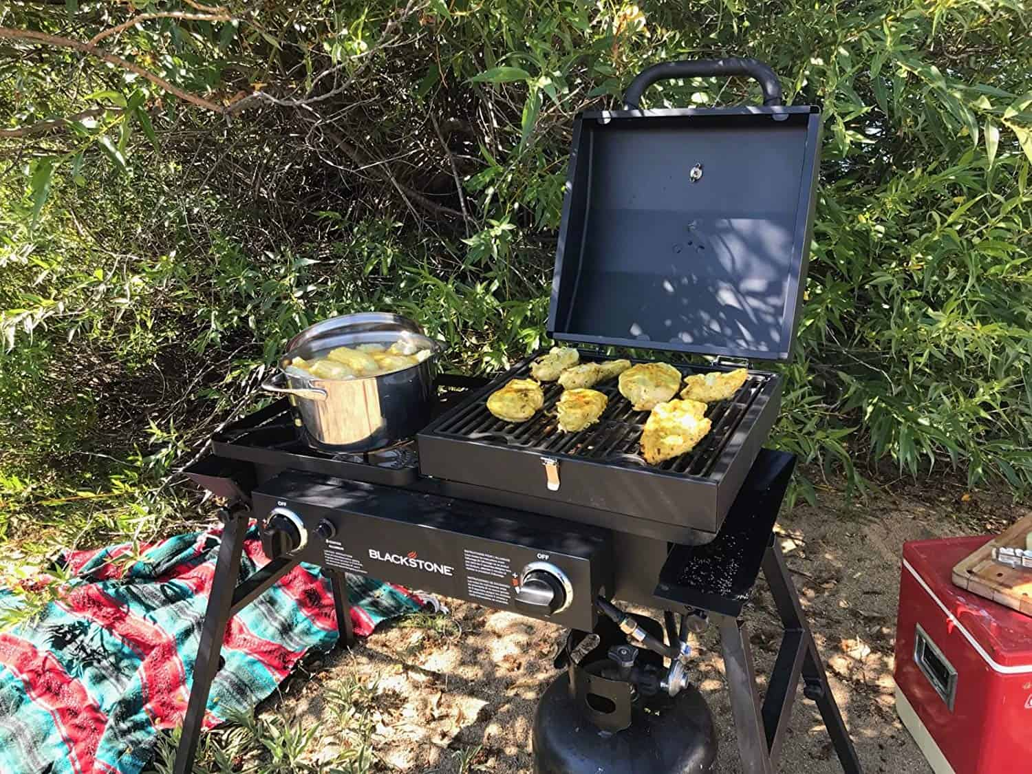 Blackstone Grills Tailgater grill griddle combo