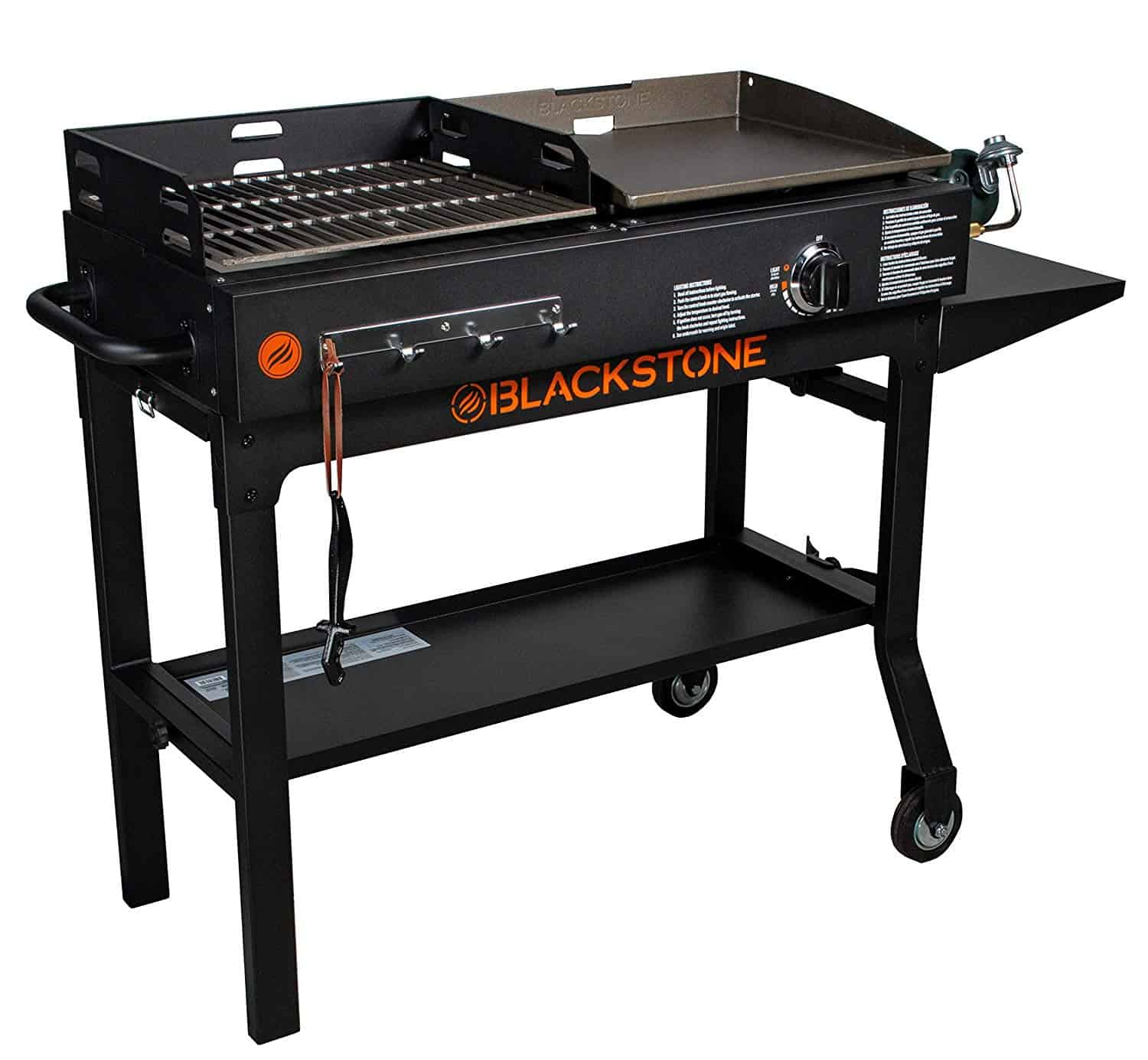 Blackstone griddle and charcoal grill combo