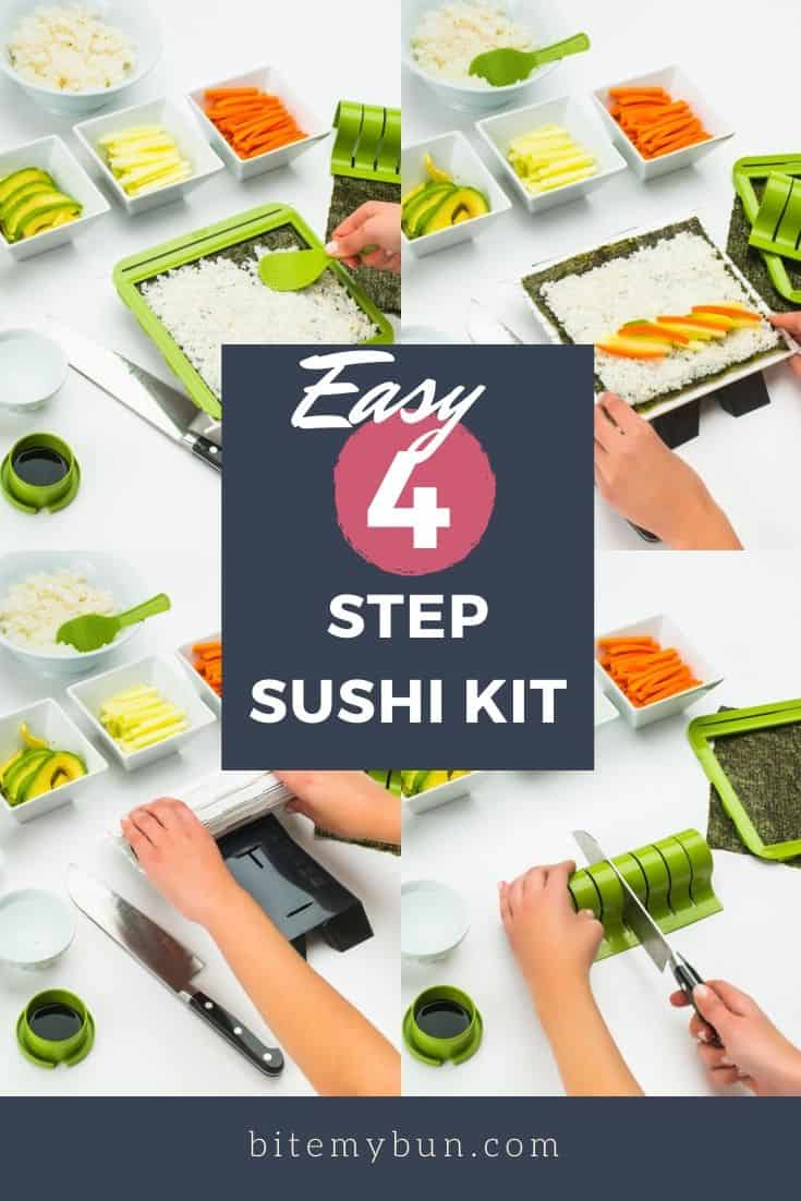 Easy 4 step sushi kit for the family