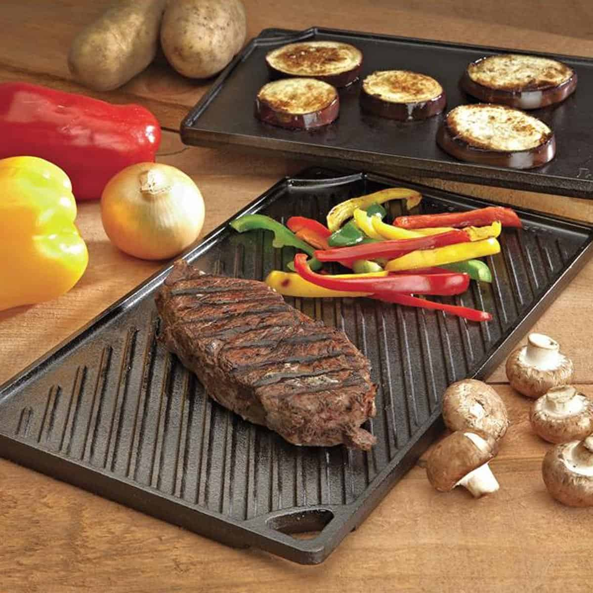 Lodge cast iron reversible grill griddle plate