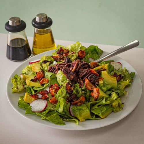 avocado salad and dressings