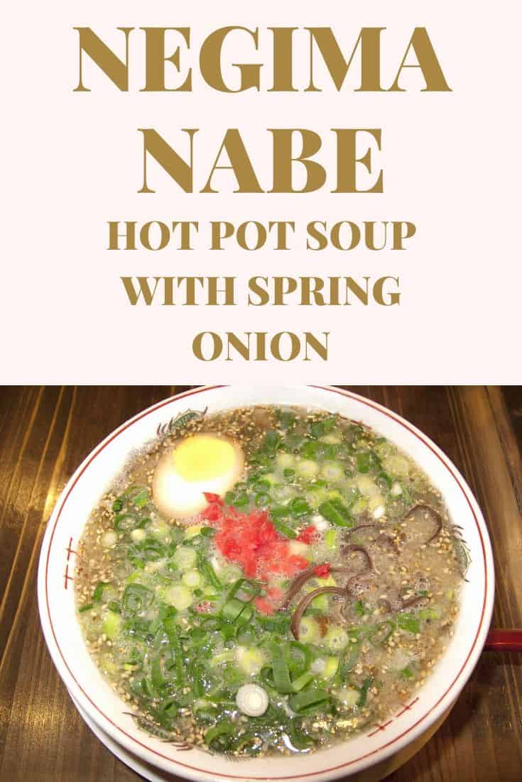 Negima nabe hot pot soup with spring onion