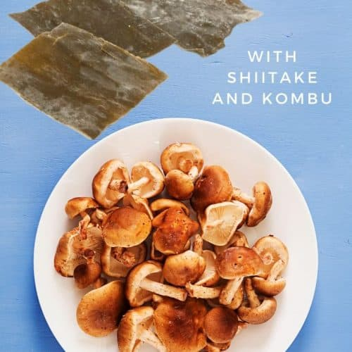 Vegan dashi broth with shiitake and kombu