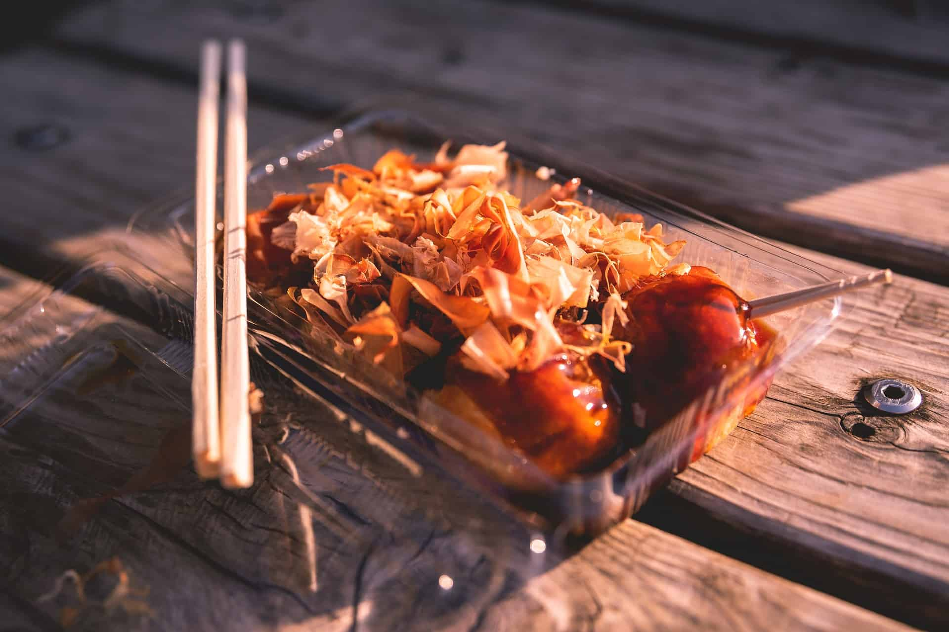 a portion of takoyaki