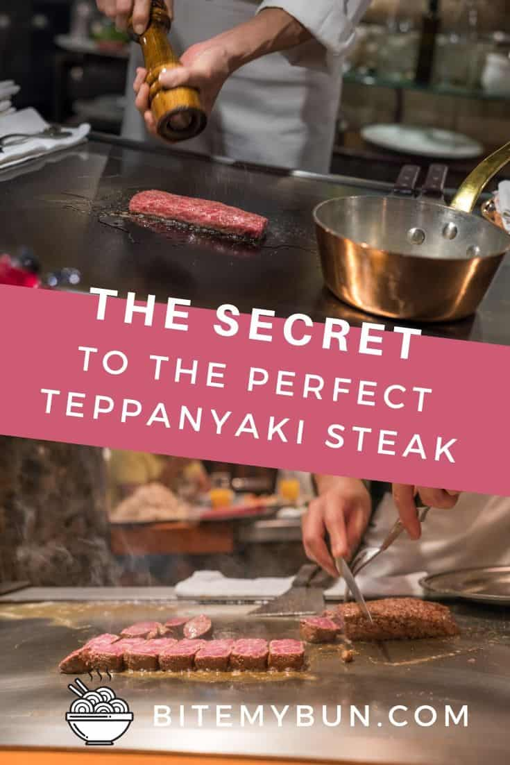 Perfect teppanyaki steak