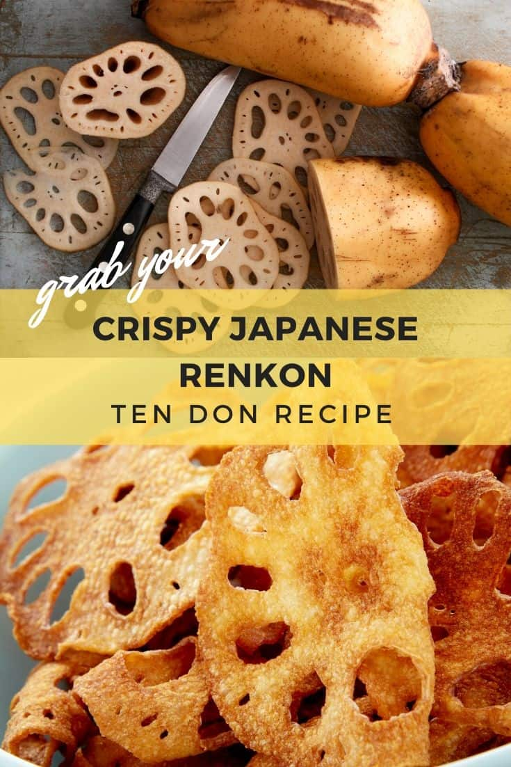 Crispy Japanese renkon ten don recipe