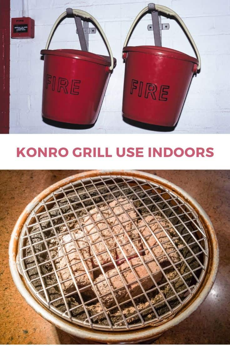 Konro grill use indoors