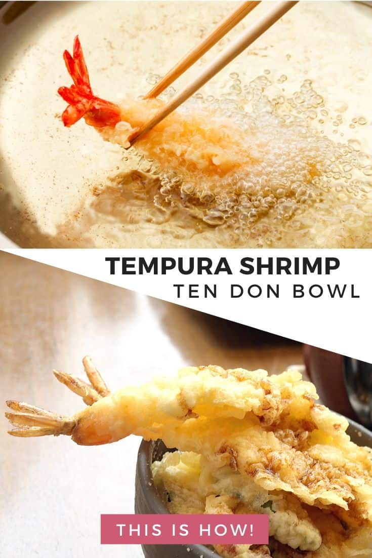 Tempura shrimp Ten Don bowl