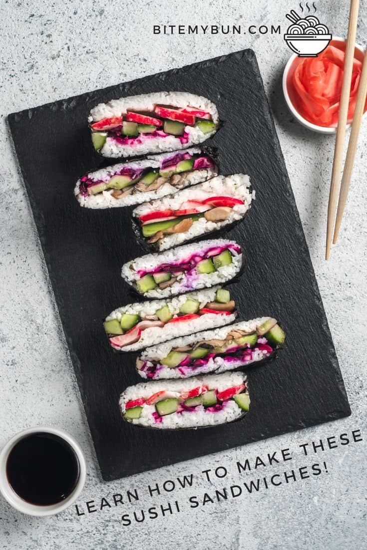 LEarn how to make these sushi sandwiches