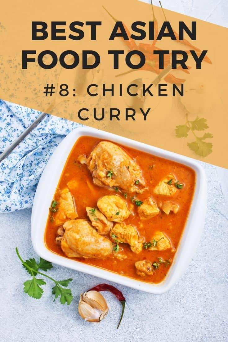 Indian chicken curry in a ceramic dish