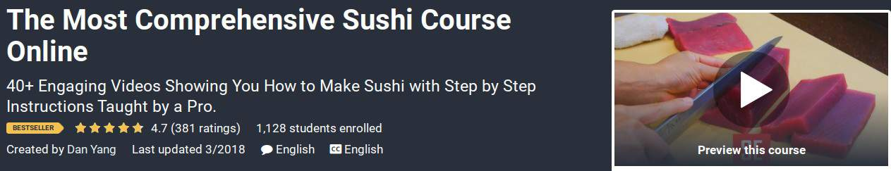 Most comprehensive sushi course