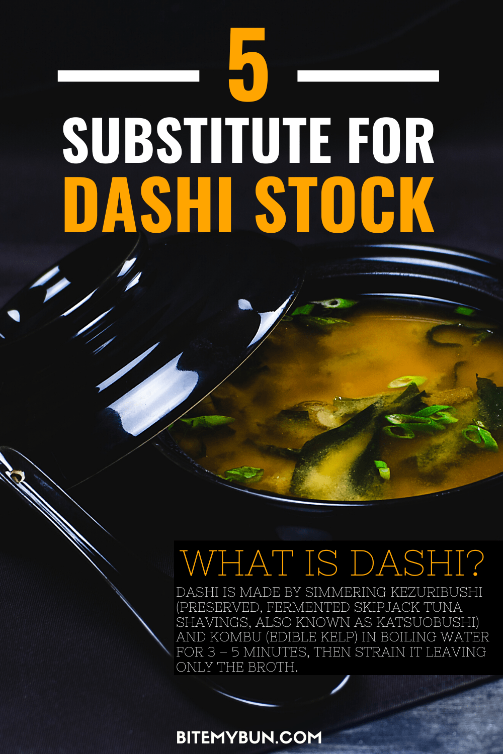 5 substitutes for your Dashi stock | Powder, Kombu & Bonito alternatives