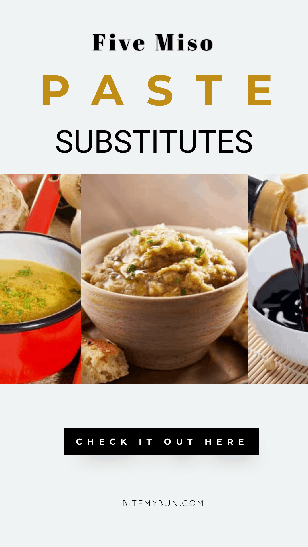 MISO PASTE SUBSTITUTE | 5 OPTIONS YOU COULD ADD TO YOUR DISH INSTEAD