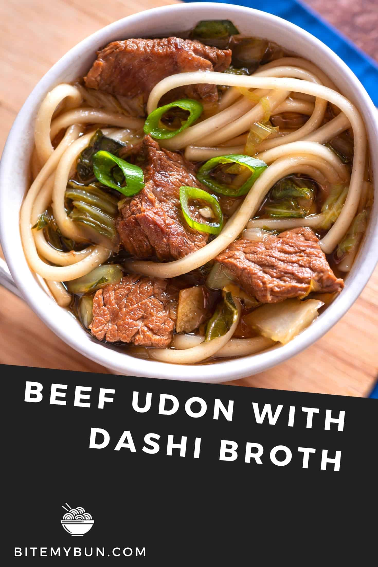 Beef Udon with Dashi broth