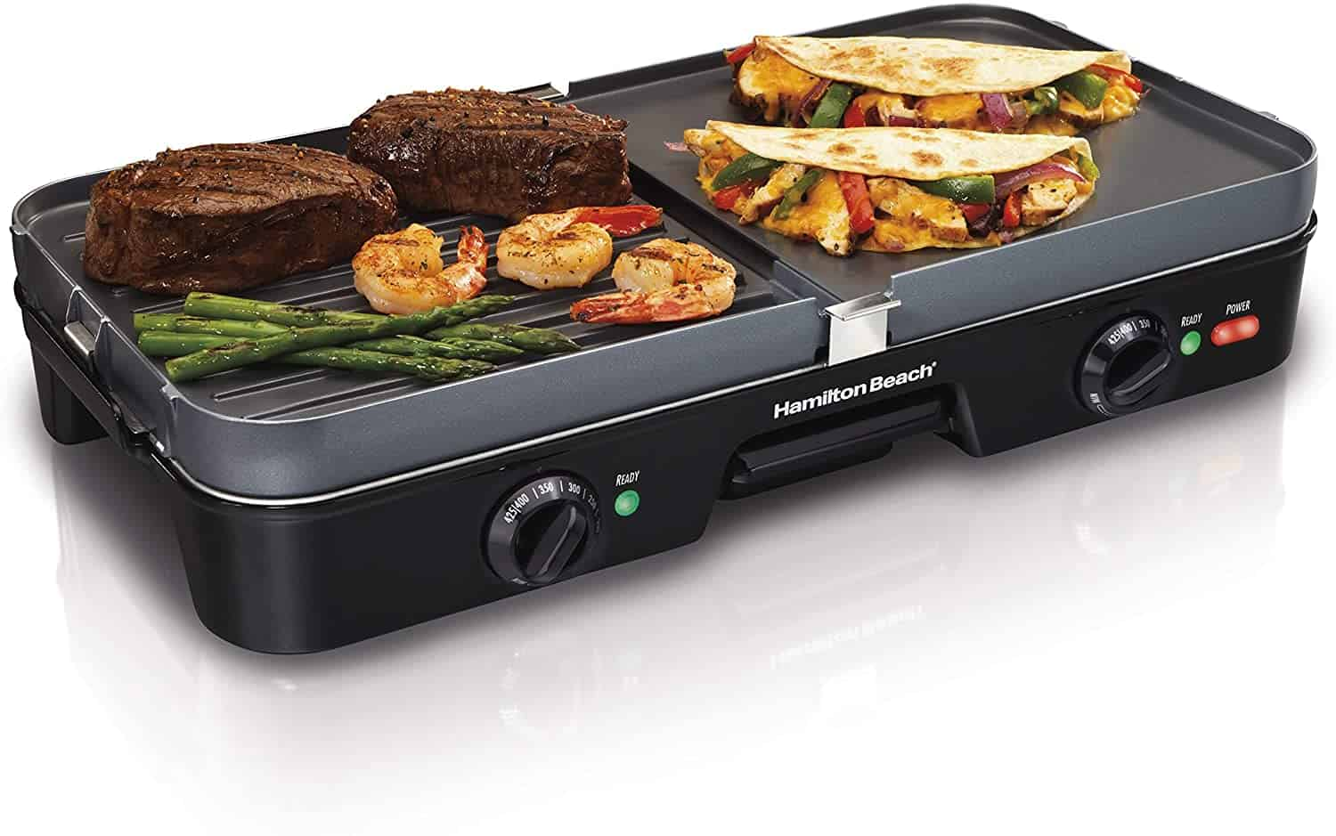 Best indoor electric grill/griddle combo: Hamilton Beach 3-in-1 Grill and Griddle