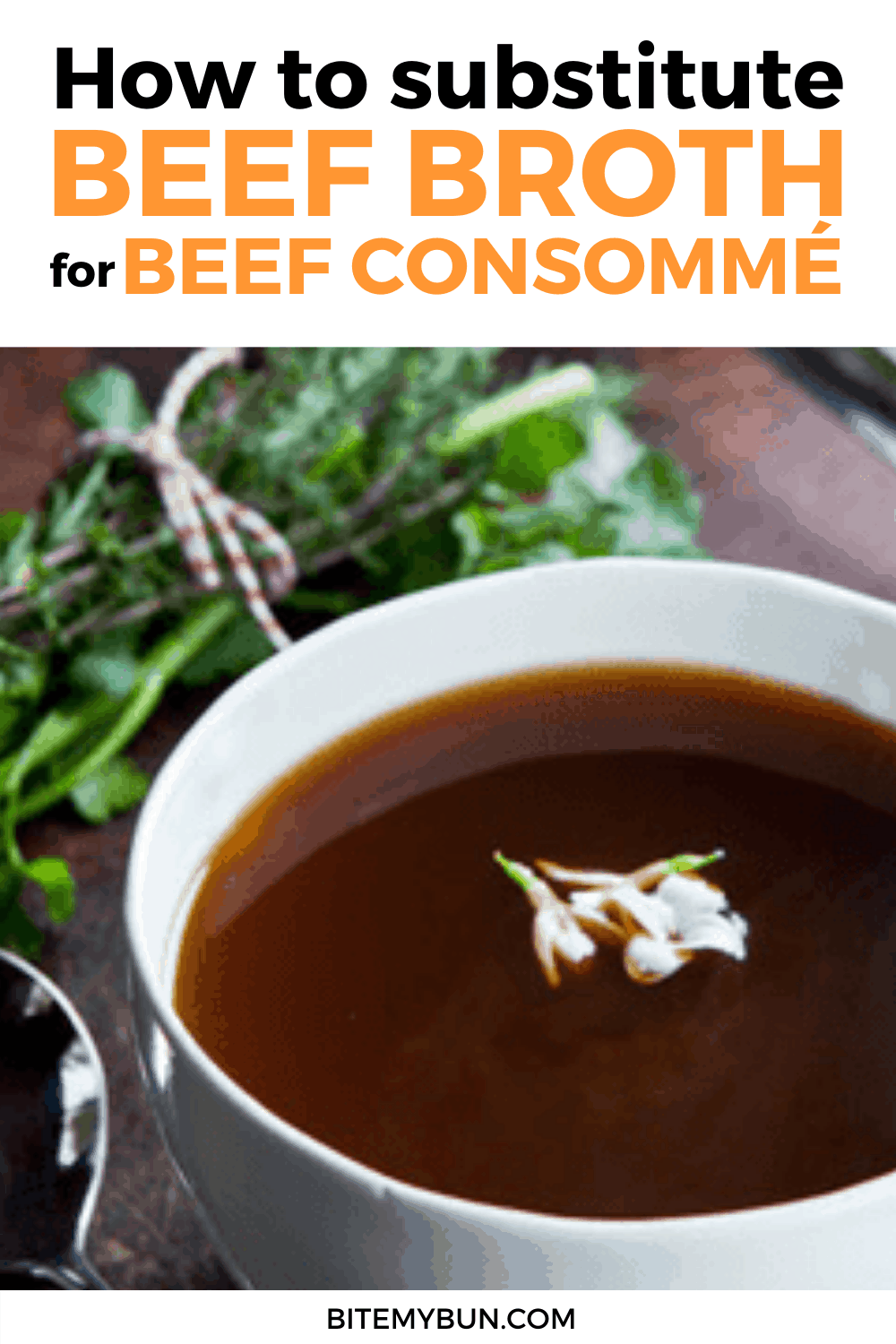 How to substitue Beef Broth for Consomme