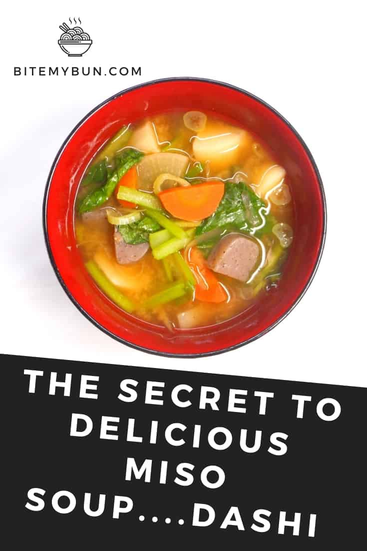 Secret to miso soup is dashi broth base