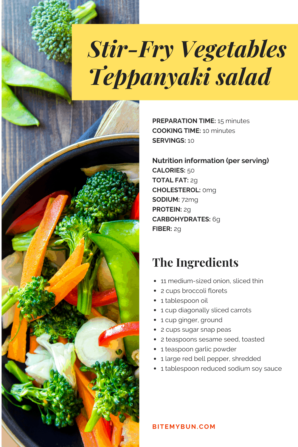 STIR FRY VEGETABLE TEPPANYAKI SALAD