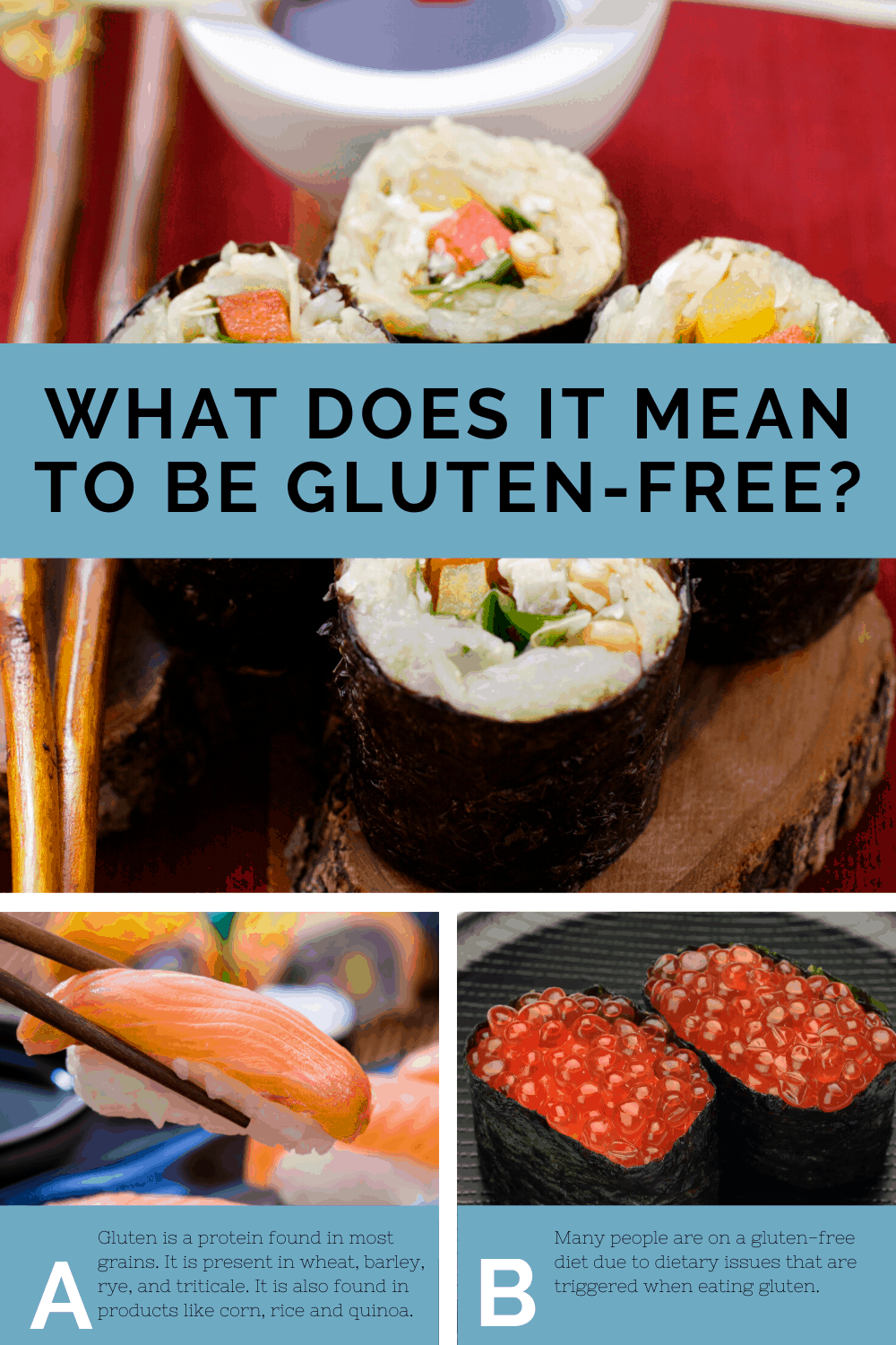 What does it mean to be gluten free